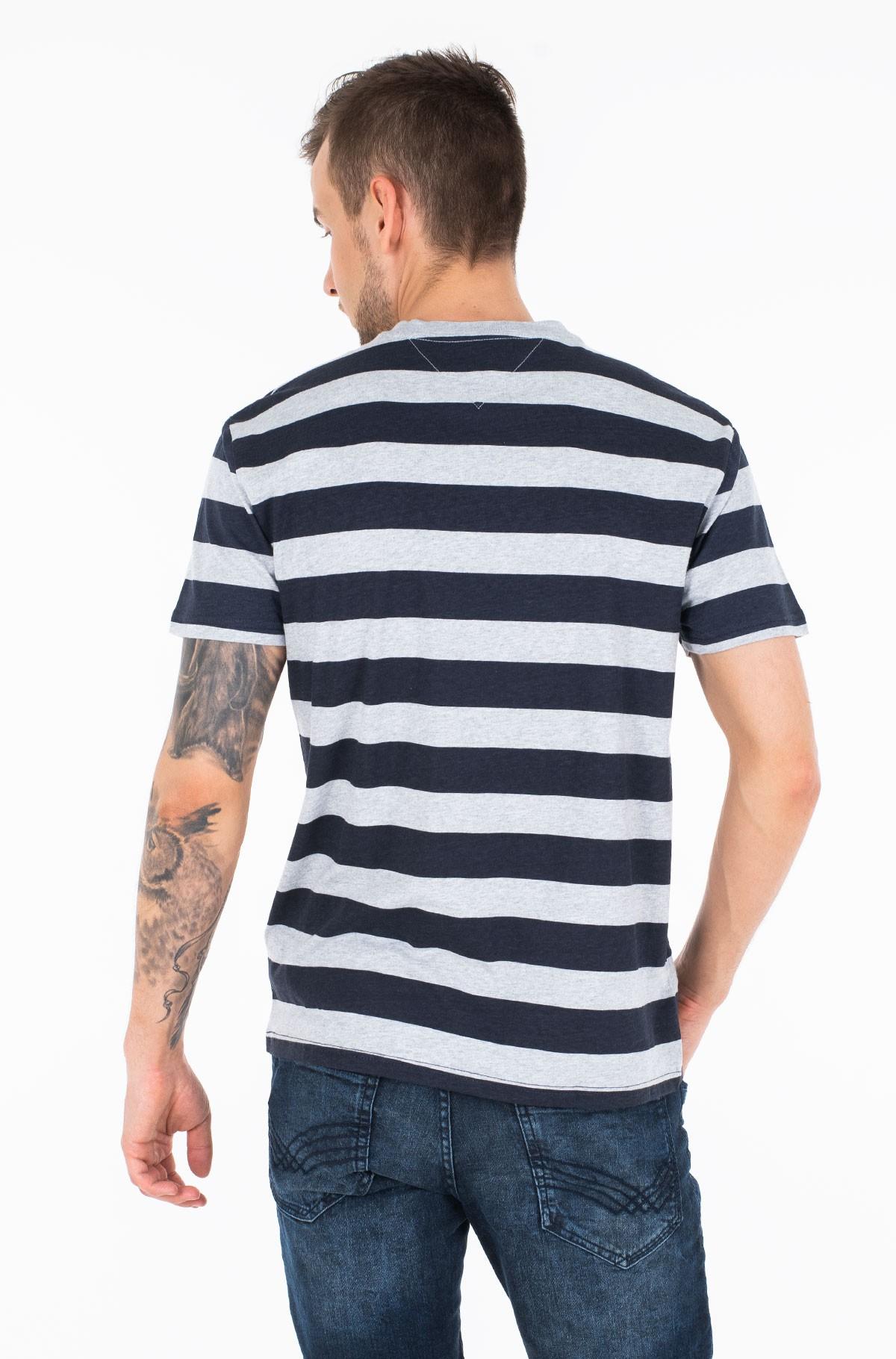 Marškinėliai TJM HEATHER STRIPE TEE-full-2