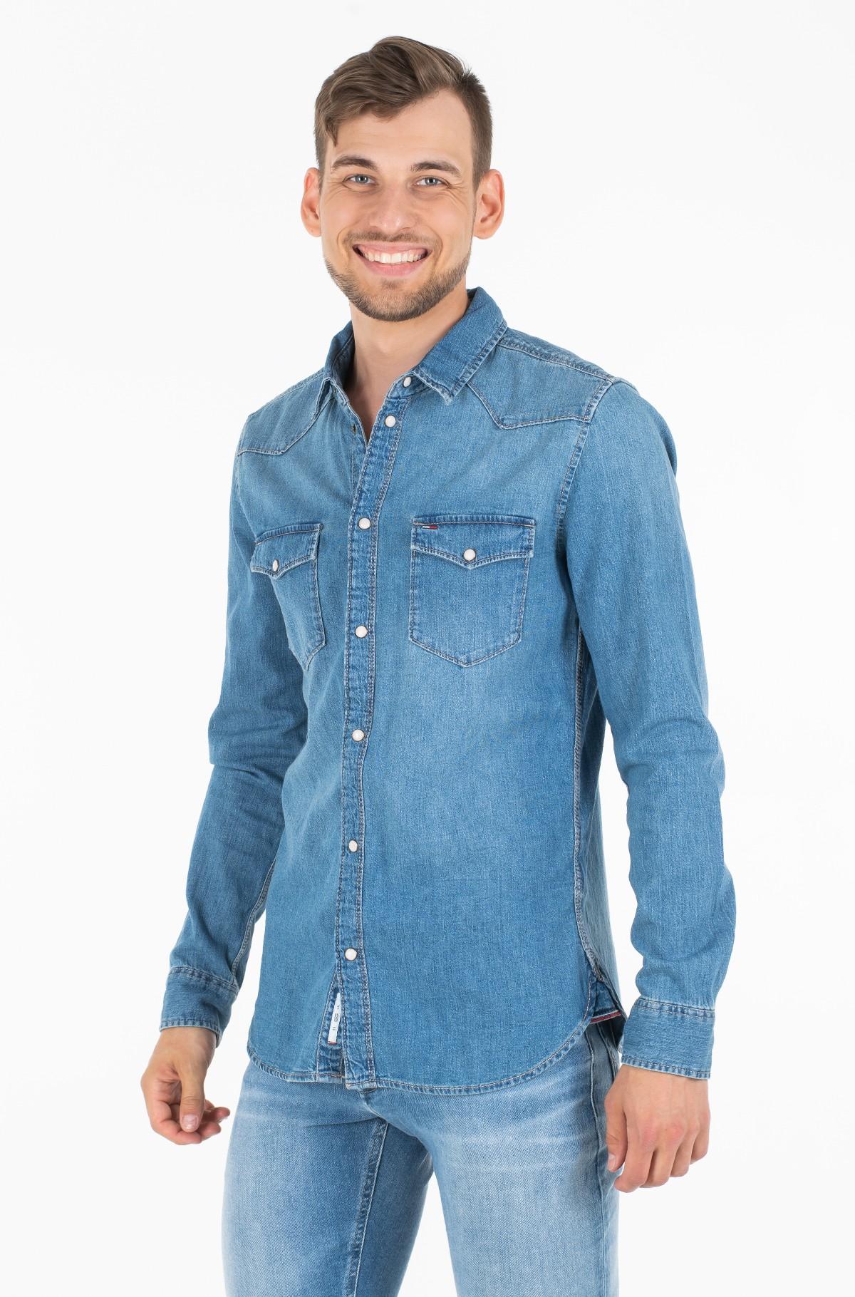Džinsiniai marškiniai WESTERN DENIM SHIRT MSLB-full-1