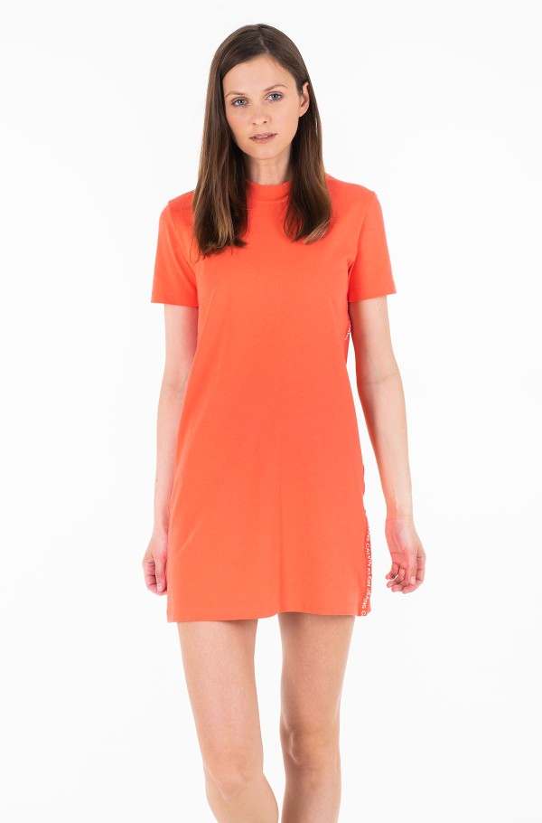 TAPE LOGO T-SHIRT DRESS-hover