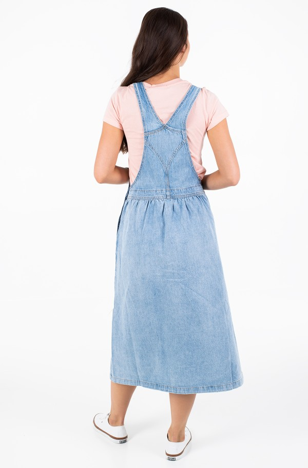 ICONIC DUNGAREE DRESS-hover