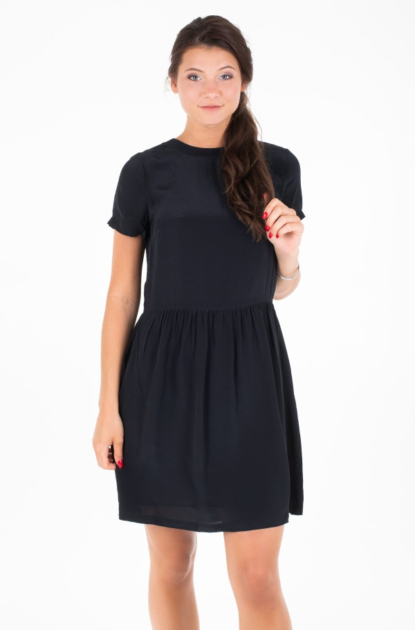FAUX SILK T-SHIRT DRESS