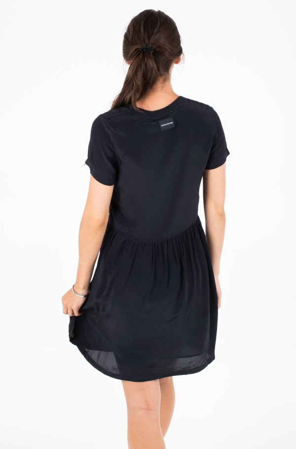 FAUX SILK T-SHIRT DRESS-hover