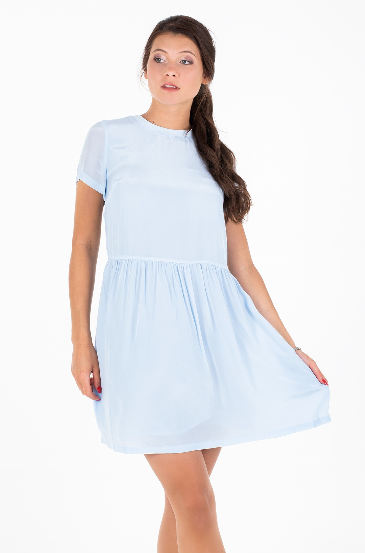 Suknelė FAUX SILK T-SHIRT DRESS-full-1