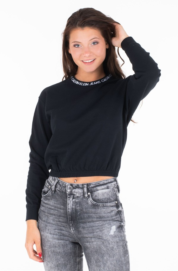LOGO TAPE CROPPED CREW NECK