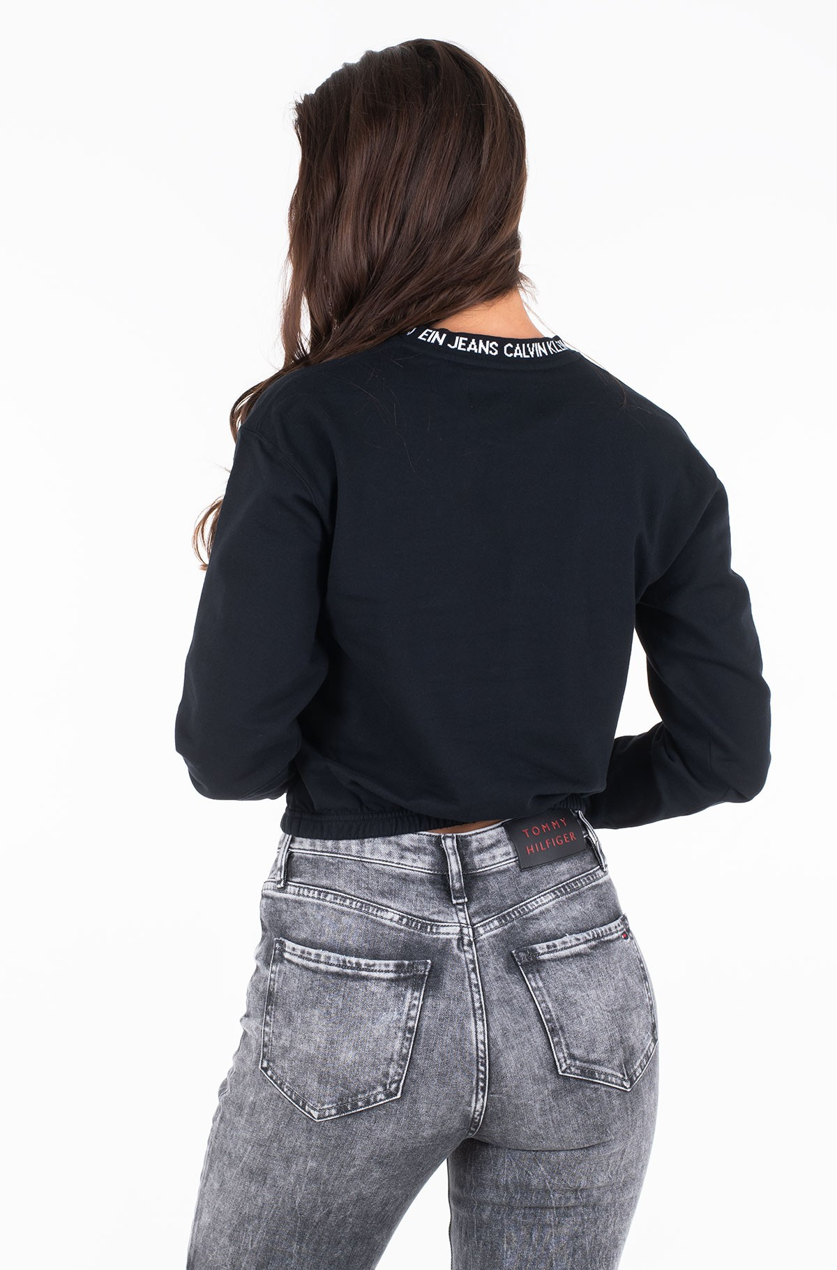 Dressipluus LOGO TAPE CROPPED CREW NECK	-full-2