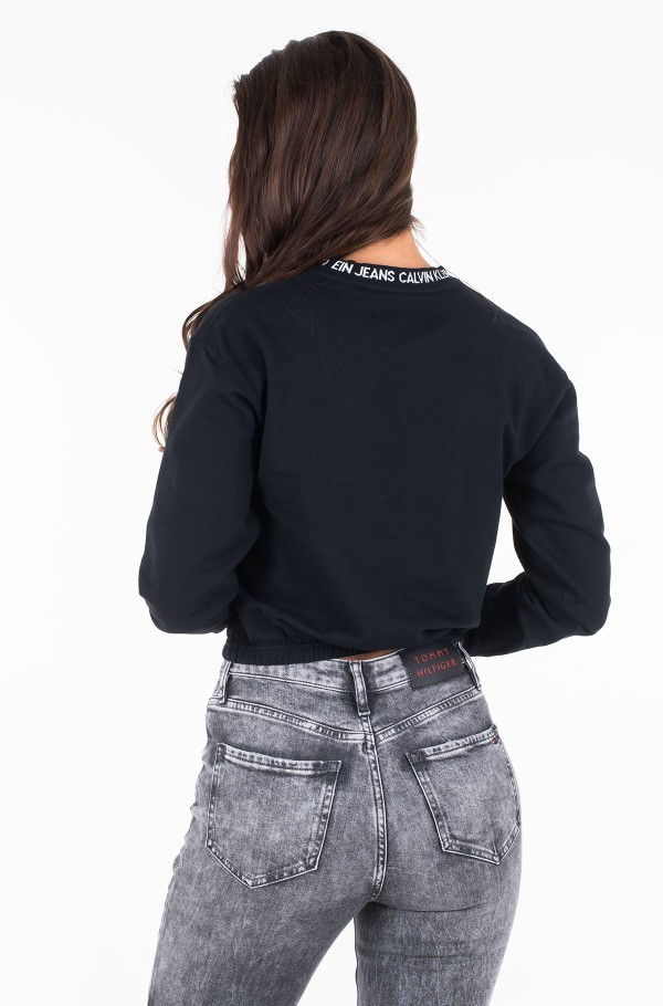 LOGO TAPE CROPPED CREW NECK-hover