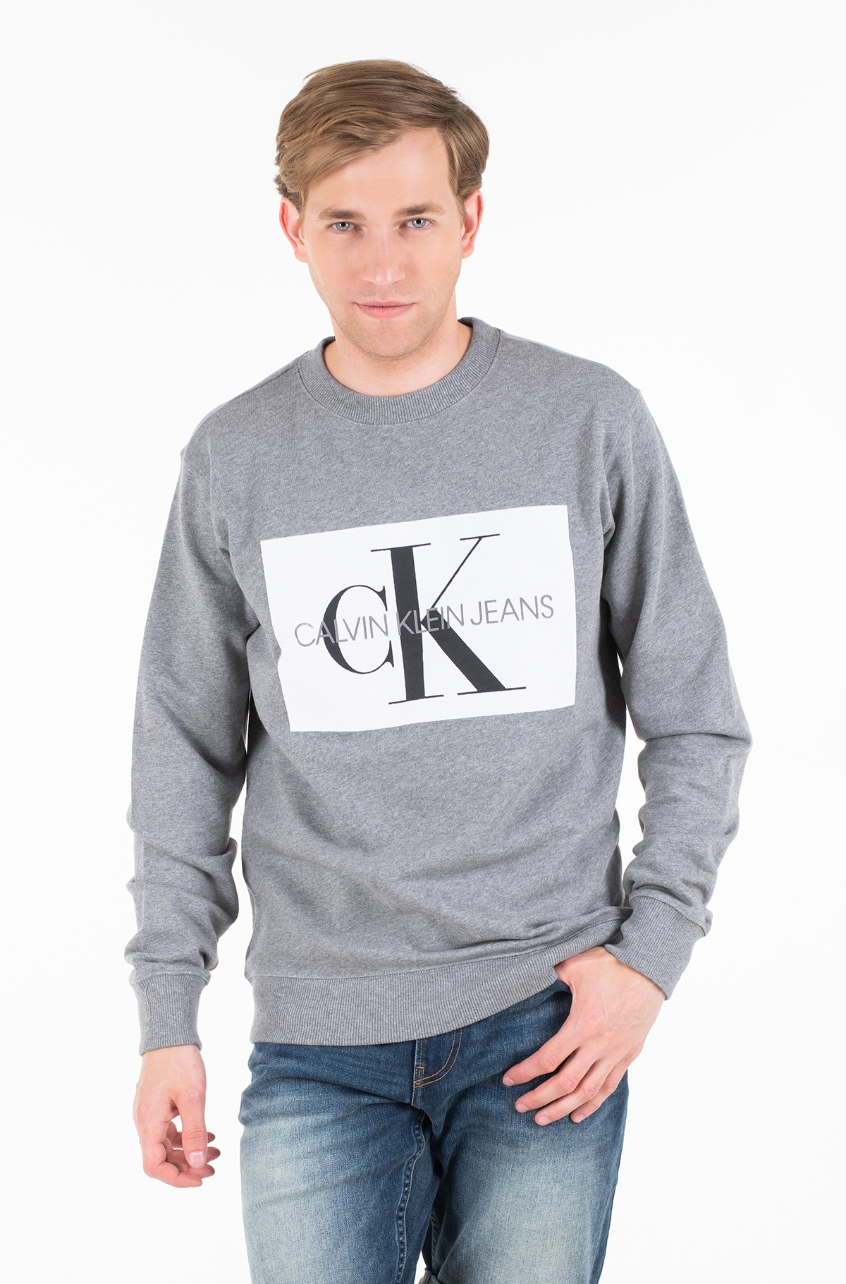 Dressipluus FLOCK MONOGRAM BOX REG CREW NECK-full-1
