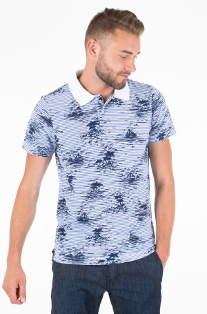 Polo ALL OVER SMALL PRINT SLIM POLO-1