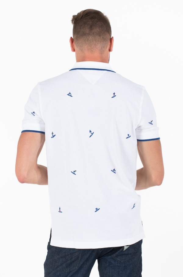 ALL OVER EMBROIDERY REGULAR POLO-hover