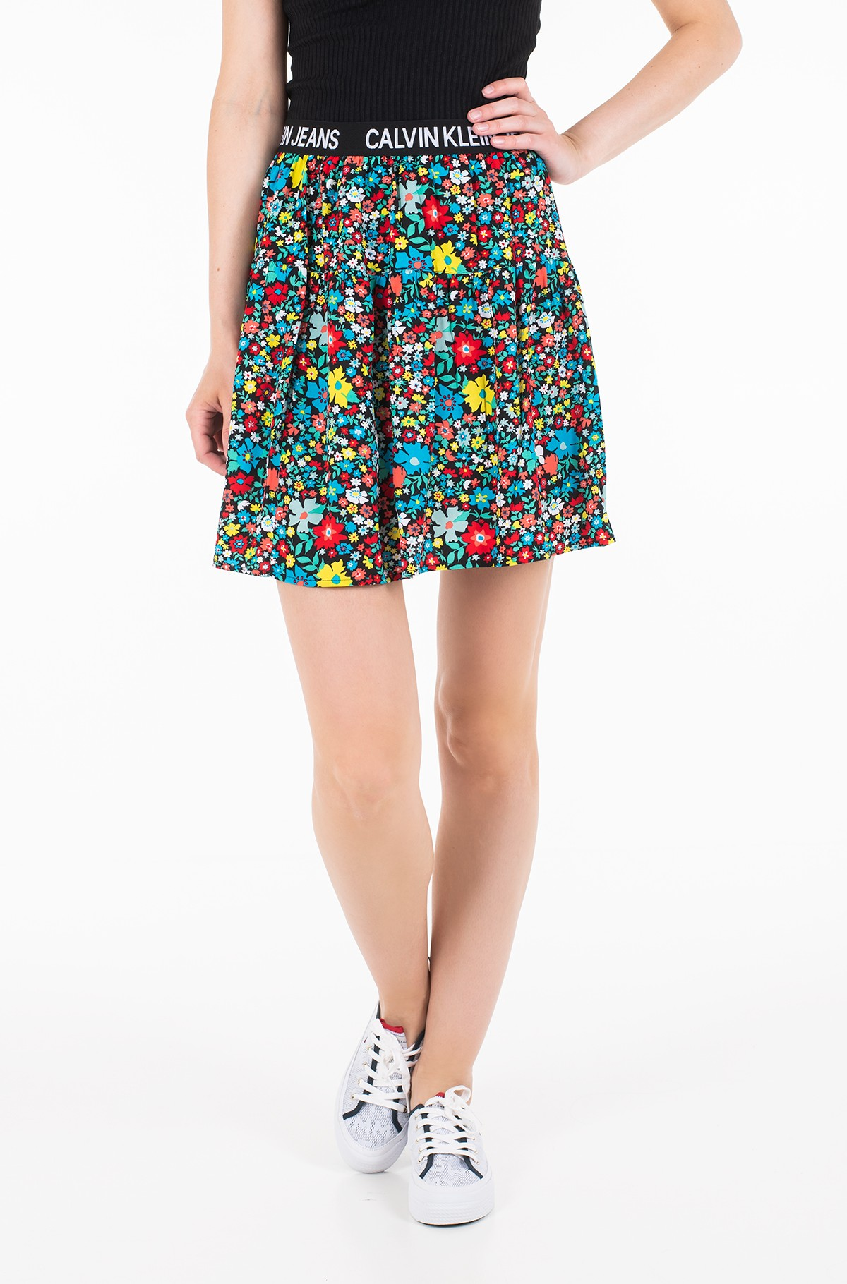 Sijonas FLORAL LOGO TAPE SKIRT-full-1