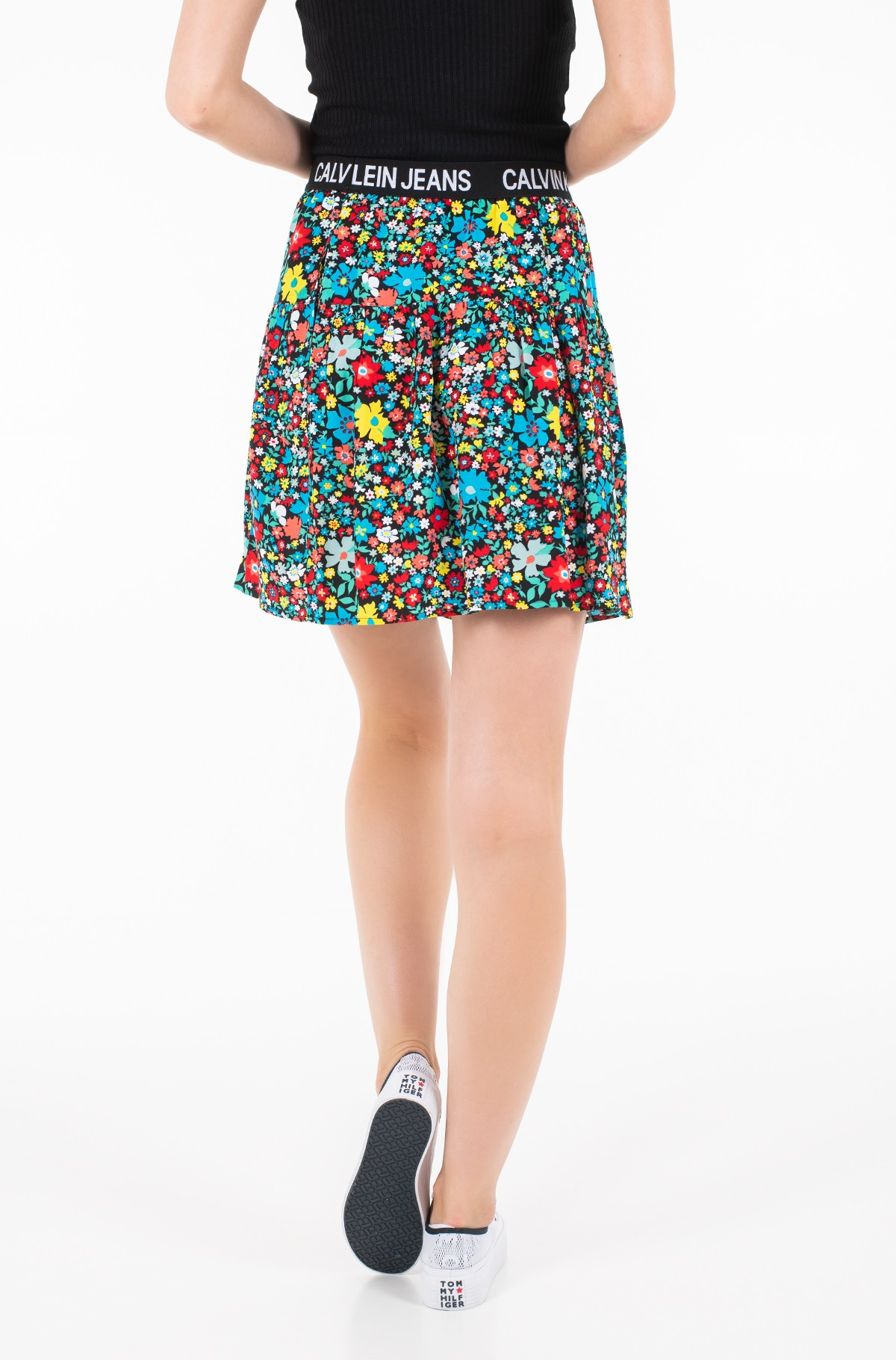 Sijonas FLORAL LOGO TAPE SKIRT-full-2