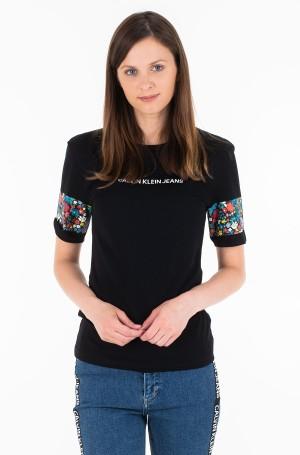 Marškinėliai INSTITUTIONAL FLOWER SLIM TEE-1