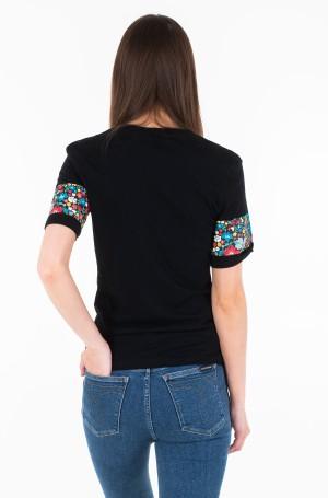 Marškinėliai INSTITUTIONAL FLOWER SLIM TEE-2