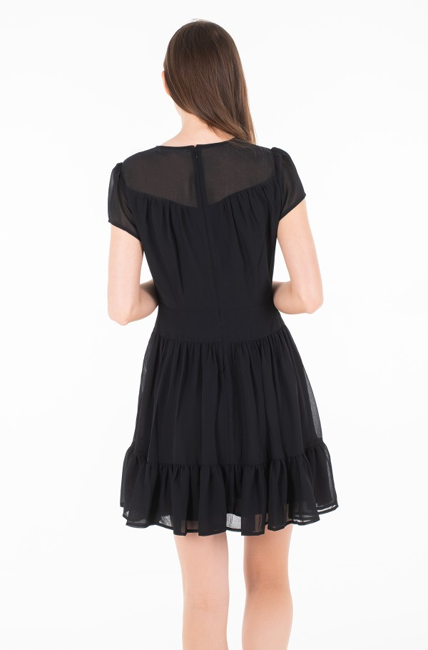 CHIFFON DOUBLE LAYER DRESS-hover