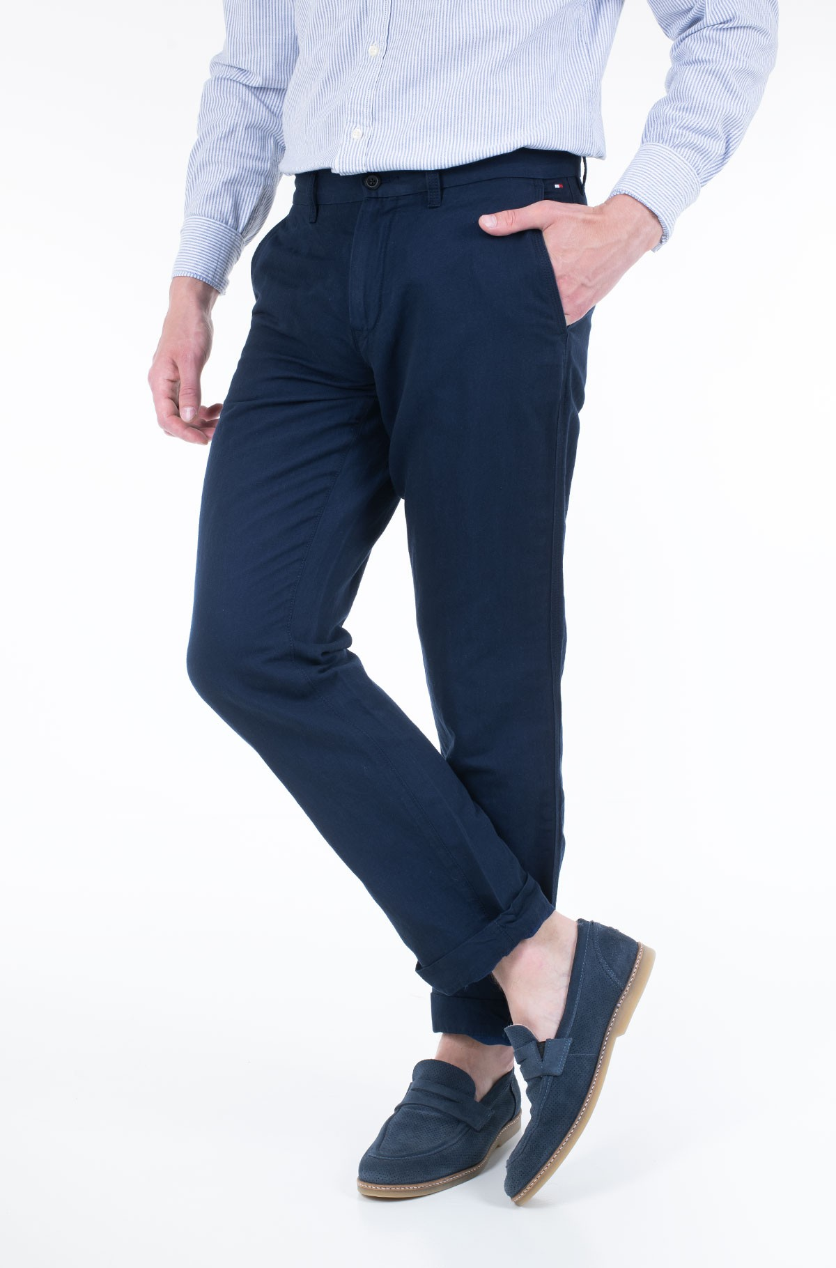 Trousers MERCER CHINO COTTON LINEN-full-1