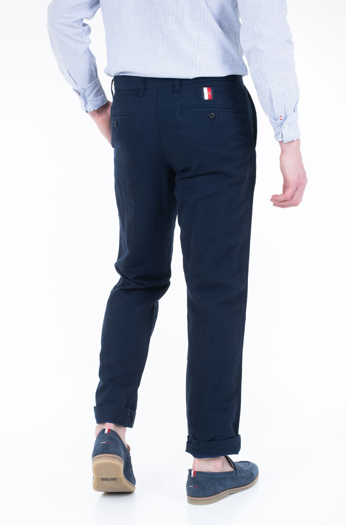 Trousers MERCER CHINO COTTON LINEN-full-2