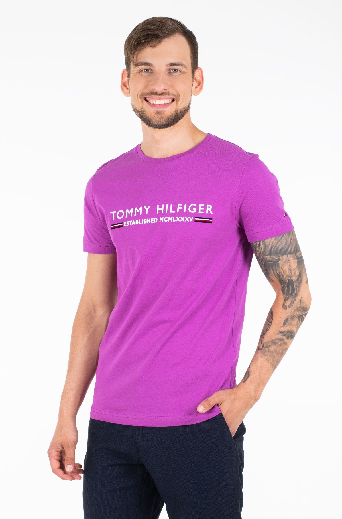 Marškinėliai TOMMY HILFIGER ESSENTIAL TEE-full-1