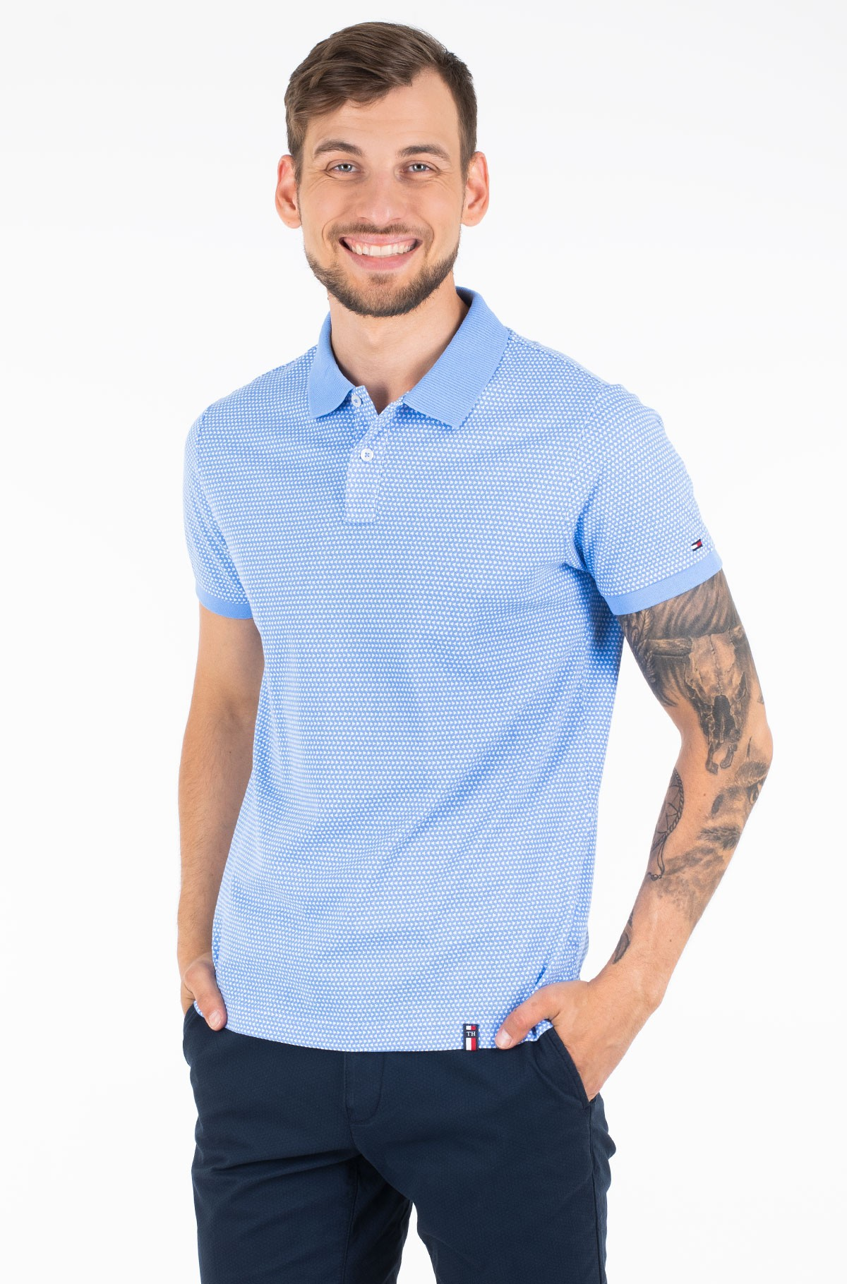 Polo MICRO TRIANGLE PRINT SLIM POLO-full-1