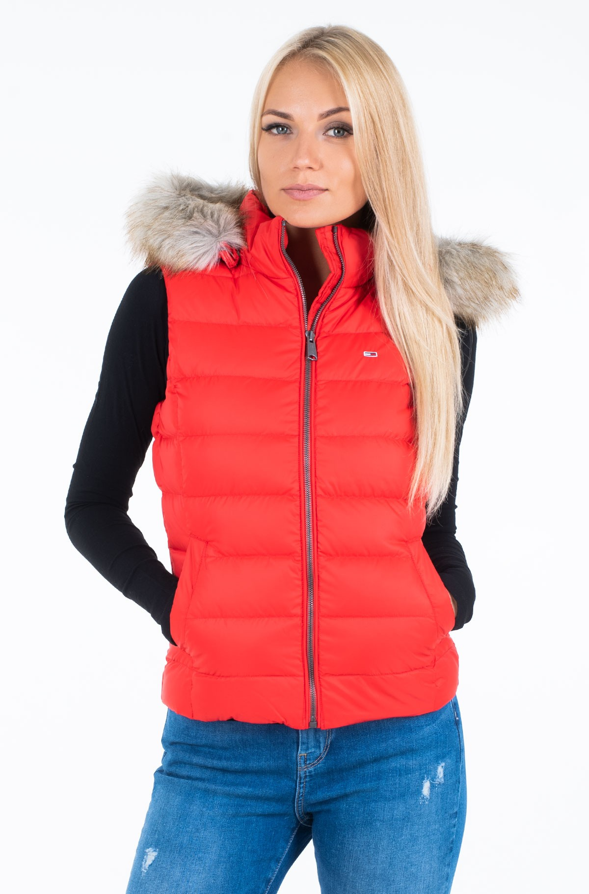 Vest TJW ESSENTIAL HOODED DOWN VEST	-full-1