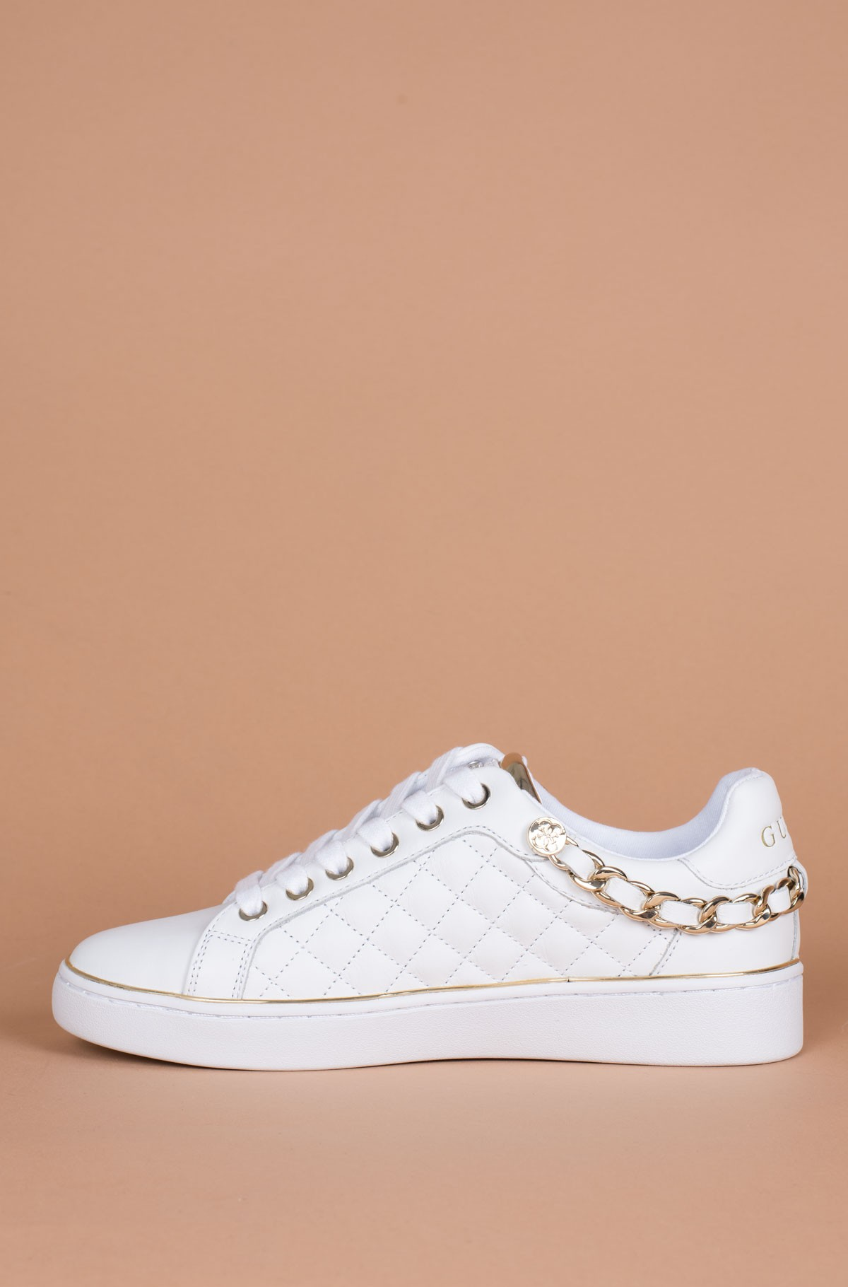 White Sneakers FL7BRS ELE12 Guess, Womens Free time | Denim
