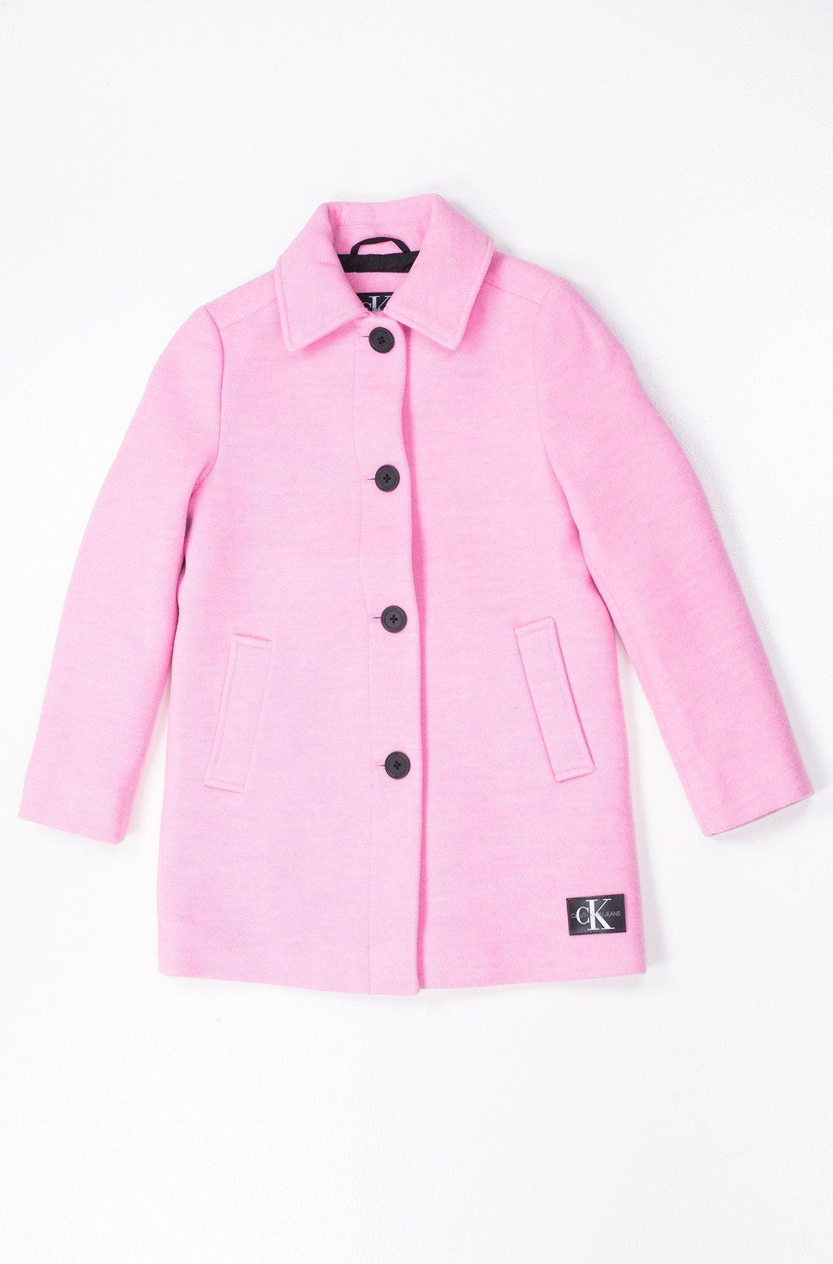 Laste mantel A-LINE SHORT COAT GIRLS-full-1