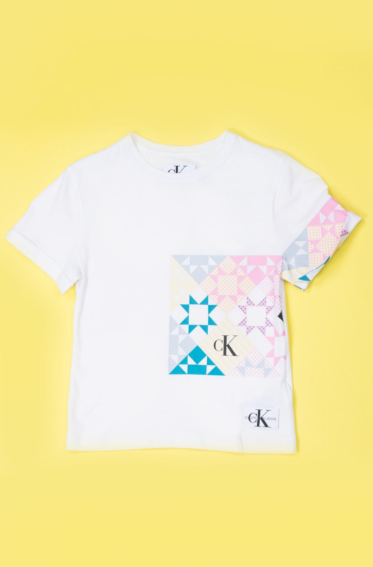 Vaikiški marškinėliai trumpomis rankovėmis PATCHWORK PRINT OCO TEE-full-1