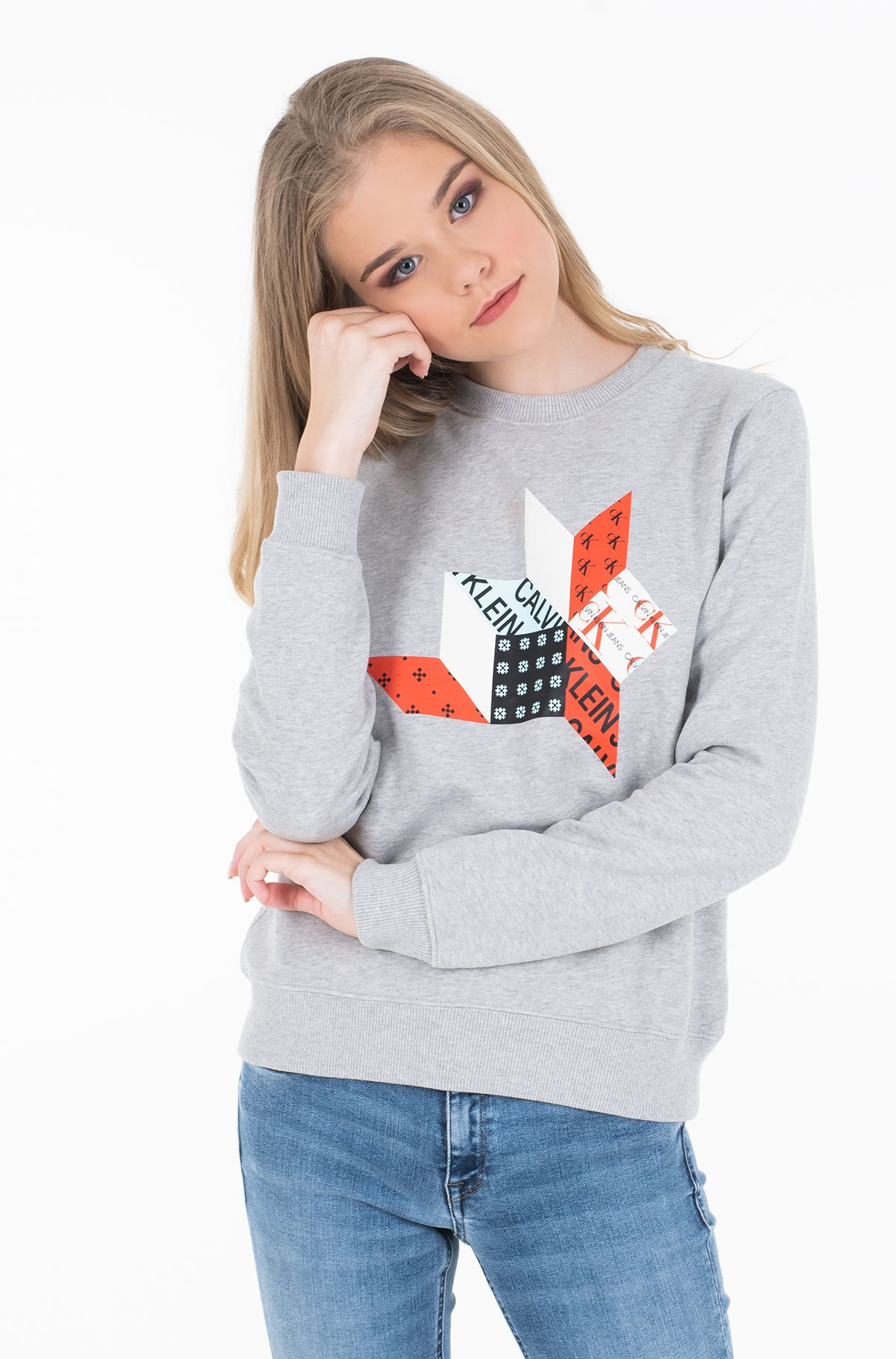Džemperis QUILT GRAPHIC CREW NECK-full-1