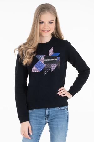 Džemperis QUILT GRAPHIC CREW NECK-1