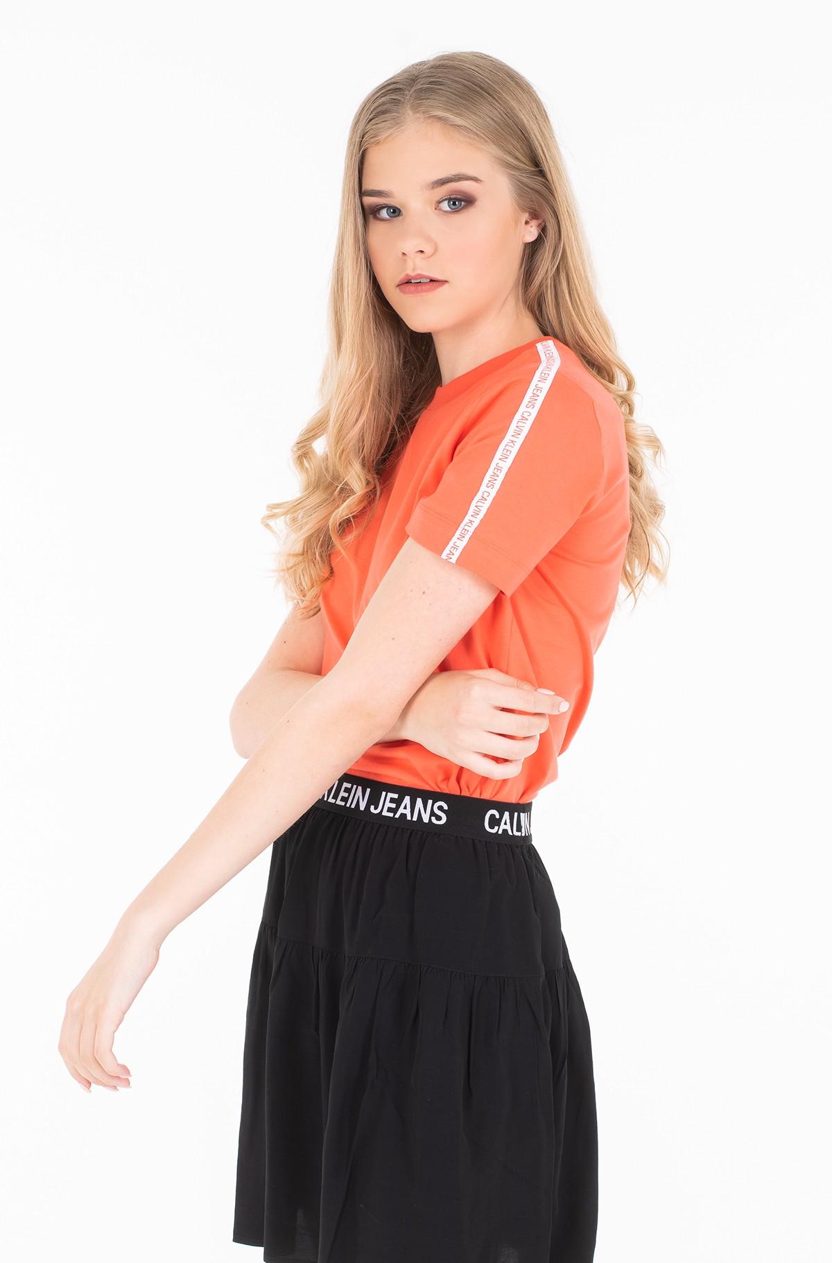 Marškinėliai TAPE LOGO STRAIGHT TEE-full-2