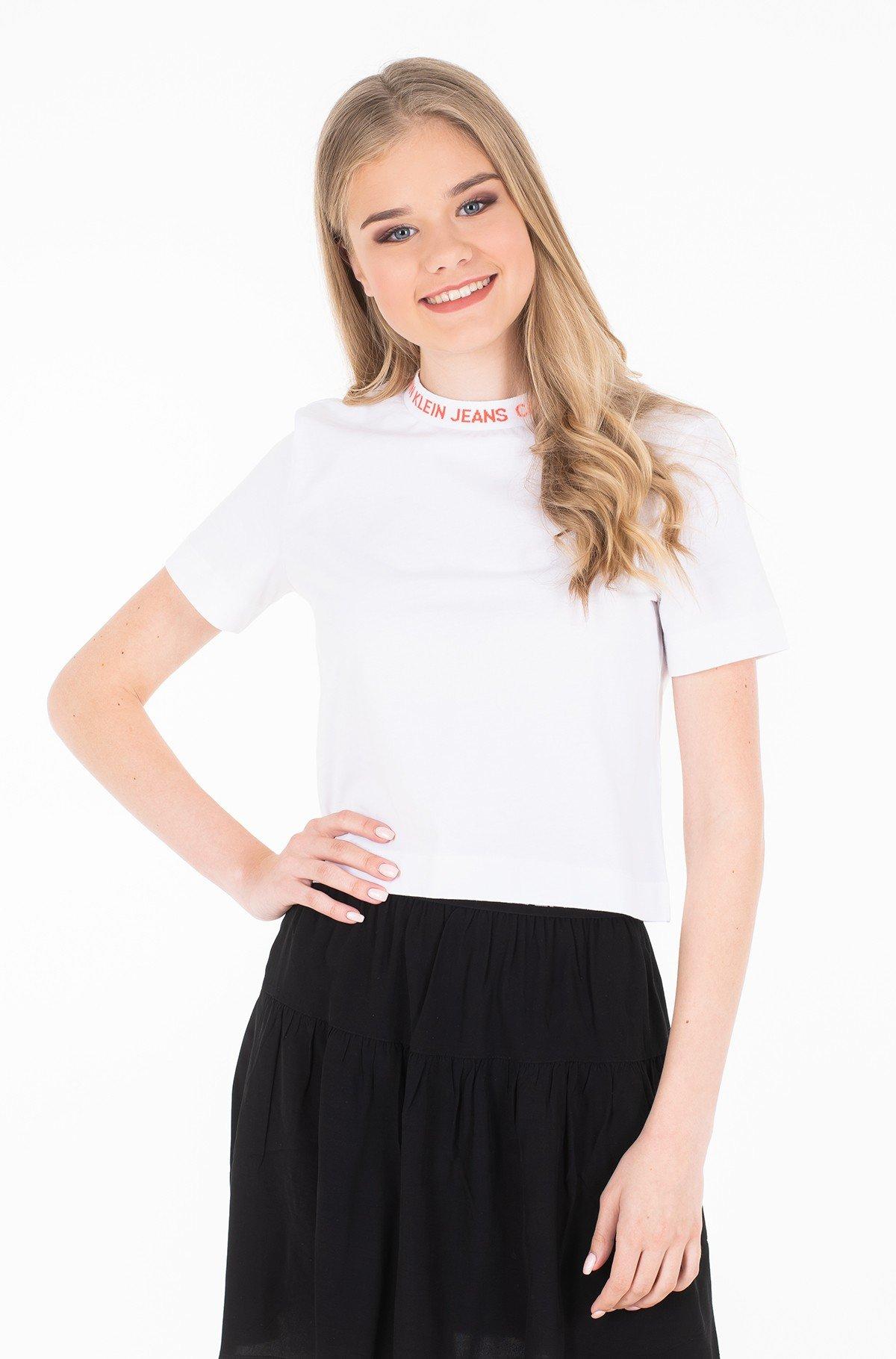Marškinėliai NECK LOGO MODERN STRAIGHT CROP T-full-1