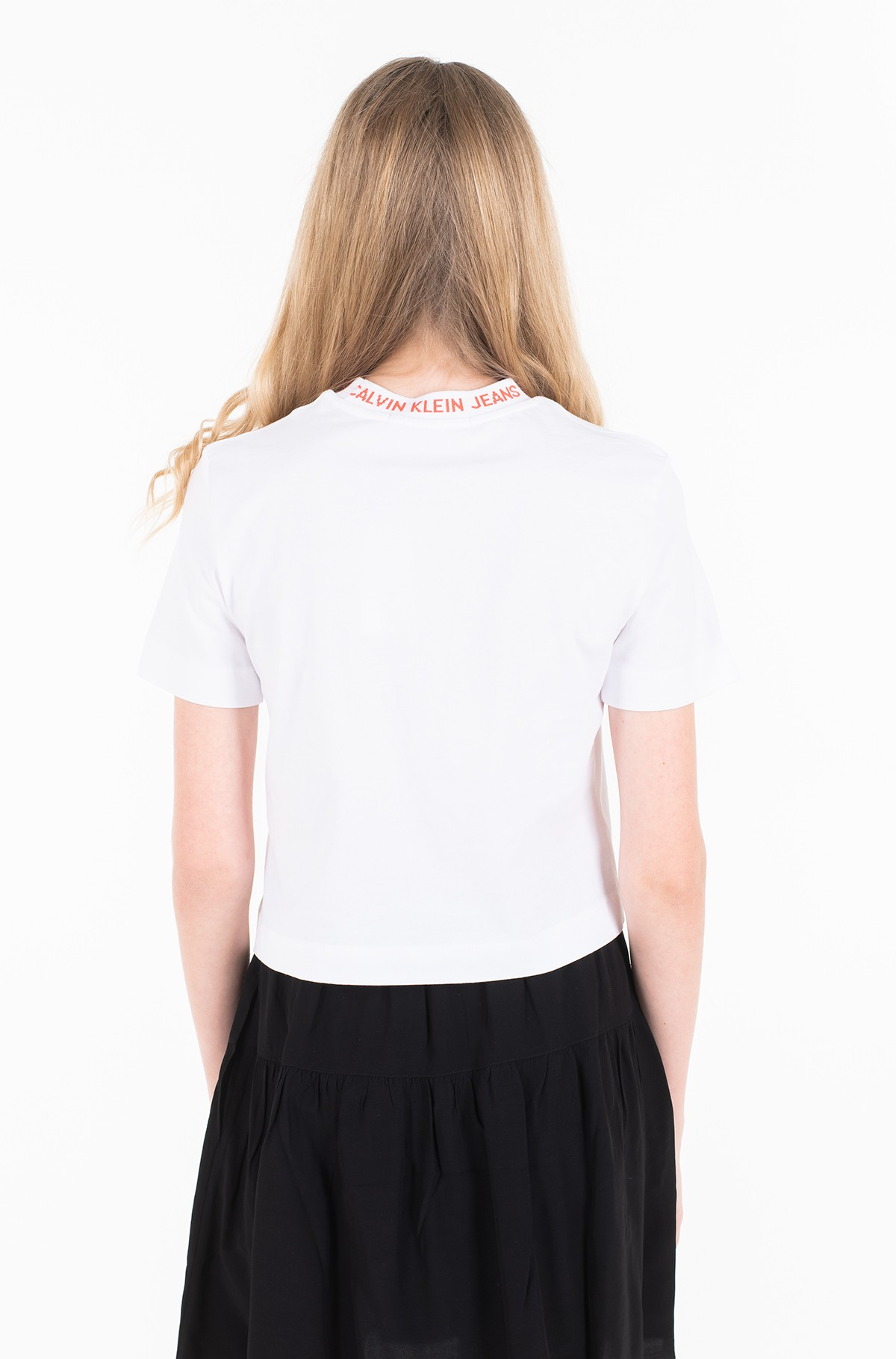 Marškinėliai NECK LOGO MODERN STRAIGHT CROP T-full-2
