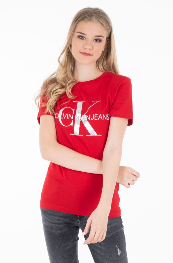 METALLIC MONOGRAM  SLIM TEE