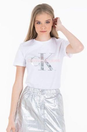 Marškinėliai METALLIC MONOGRAM SLIM TEE-1