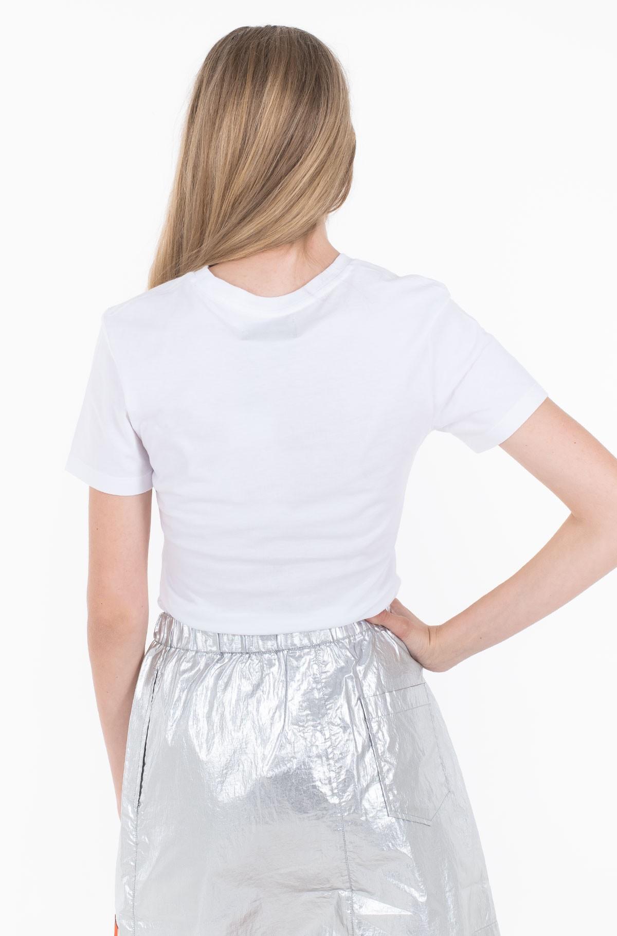 Marškinėliai METALLIC MONOGRAM SLIM TEE-full-2