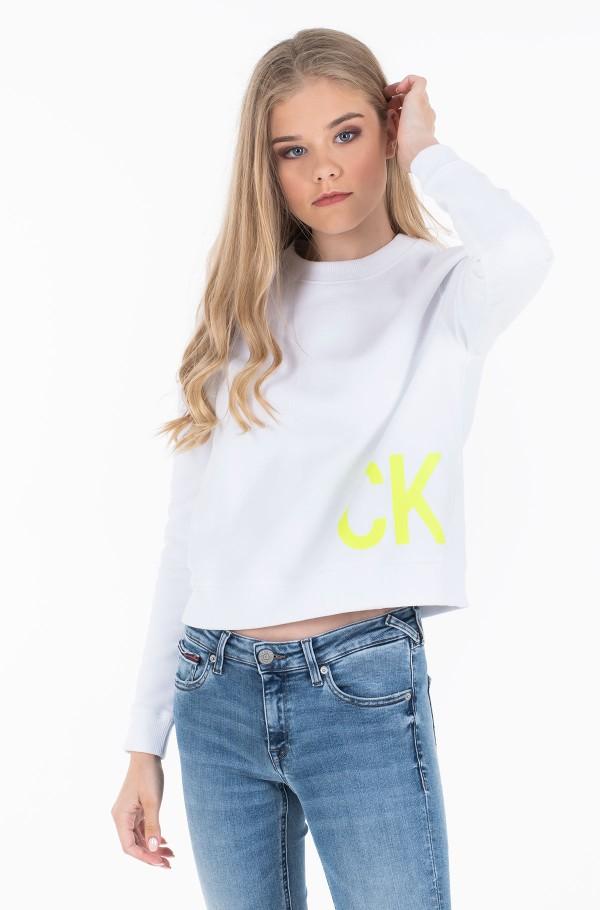 CK JEANS BOXY CREW NECK