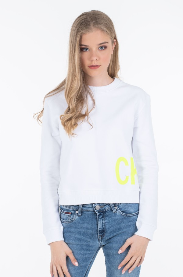 CK JEANS BOXY CREW NECK-hover