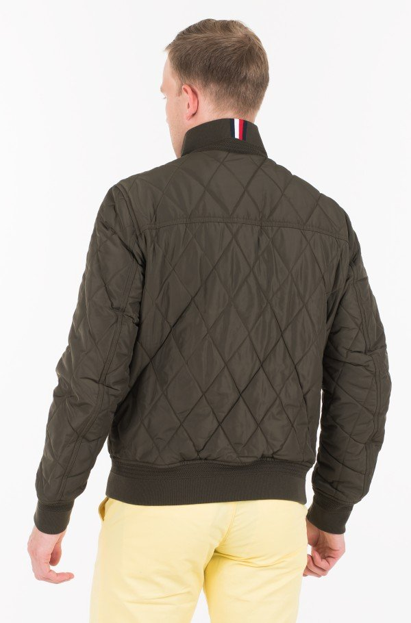 DIAMOND QUILTED BOMBER-hover