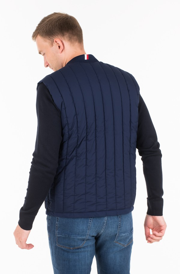 STRETCH QUILTED VEST-hover