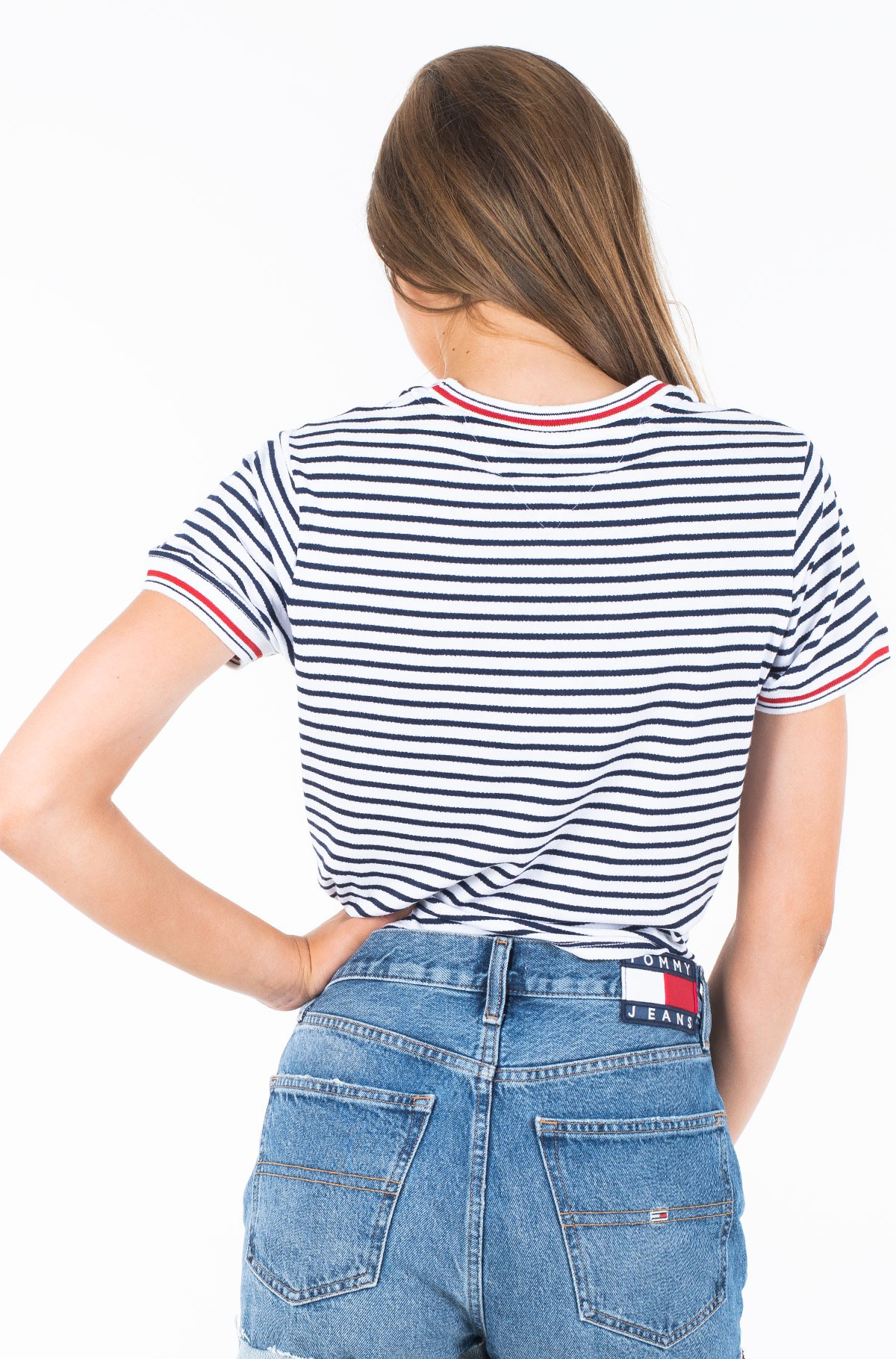 Marškinėliai TJW FRONT TIE CONTRAST RIB TEE-full-2
