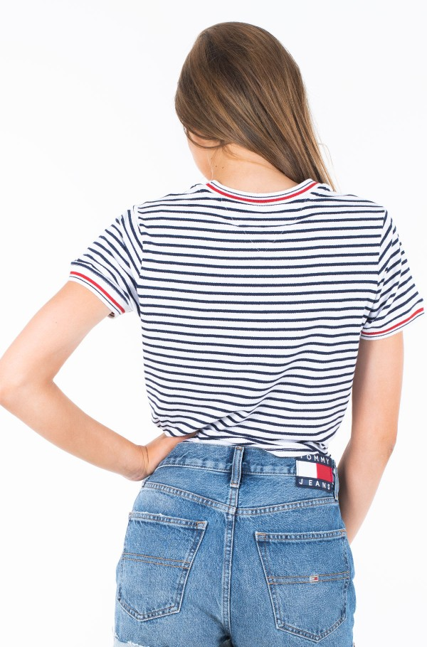 TJW FRONT TIE CONTRAST RIB TEE-hover