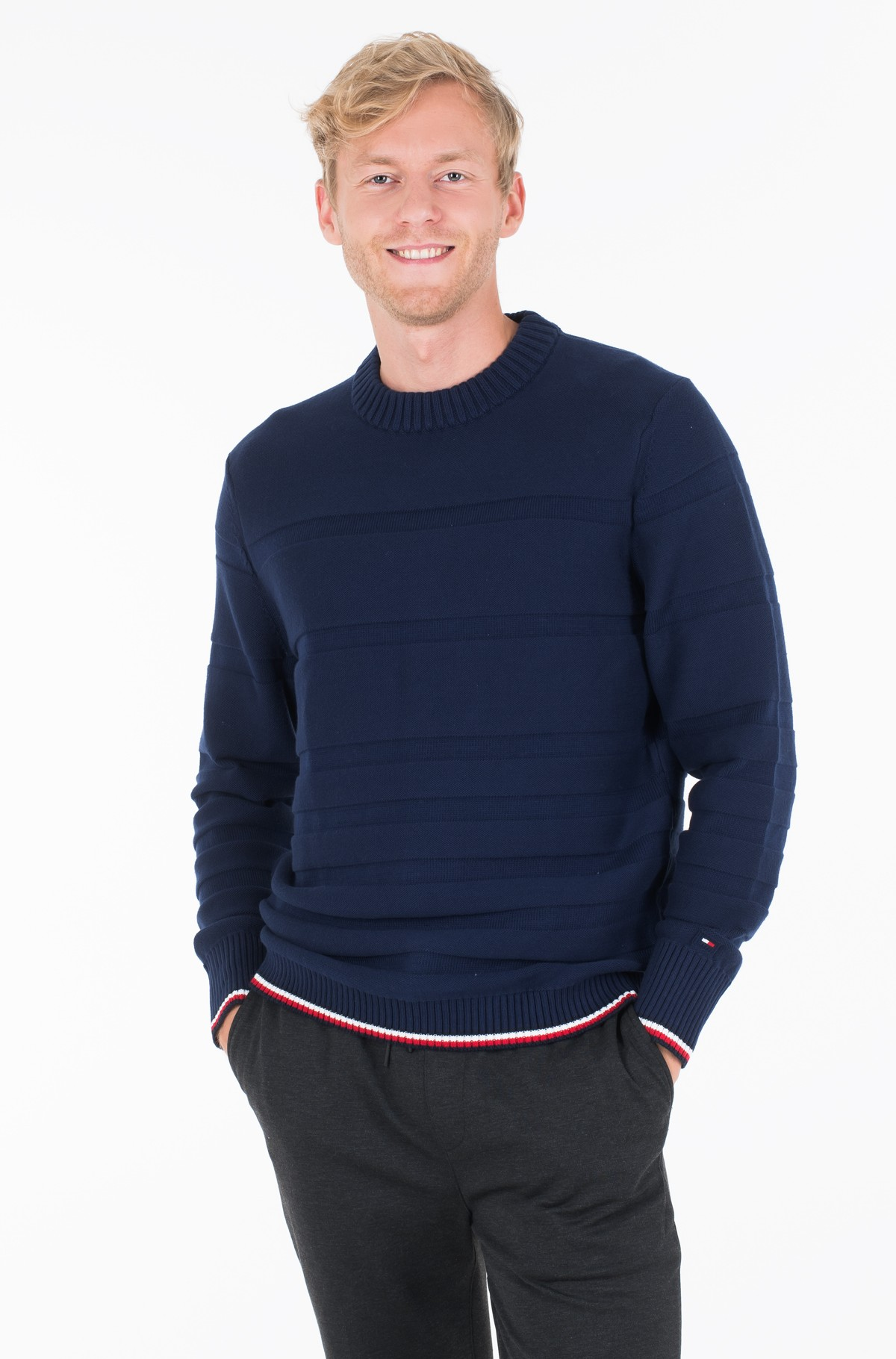 Džemperis TONAL STRIPE SWEATER	-full-1