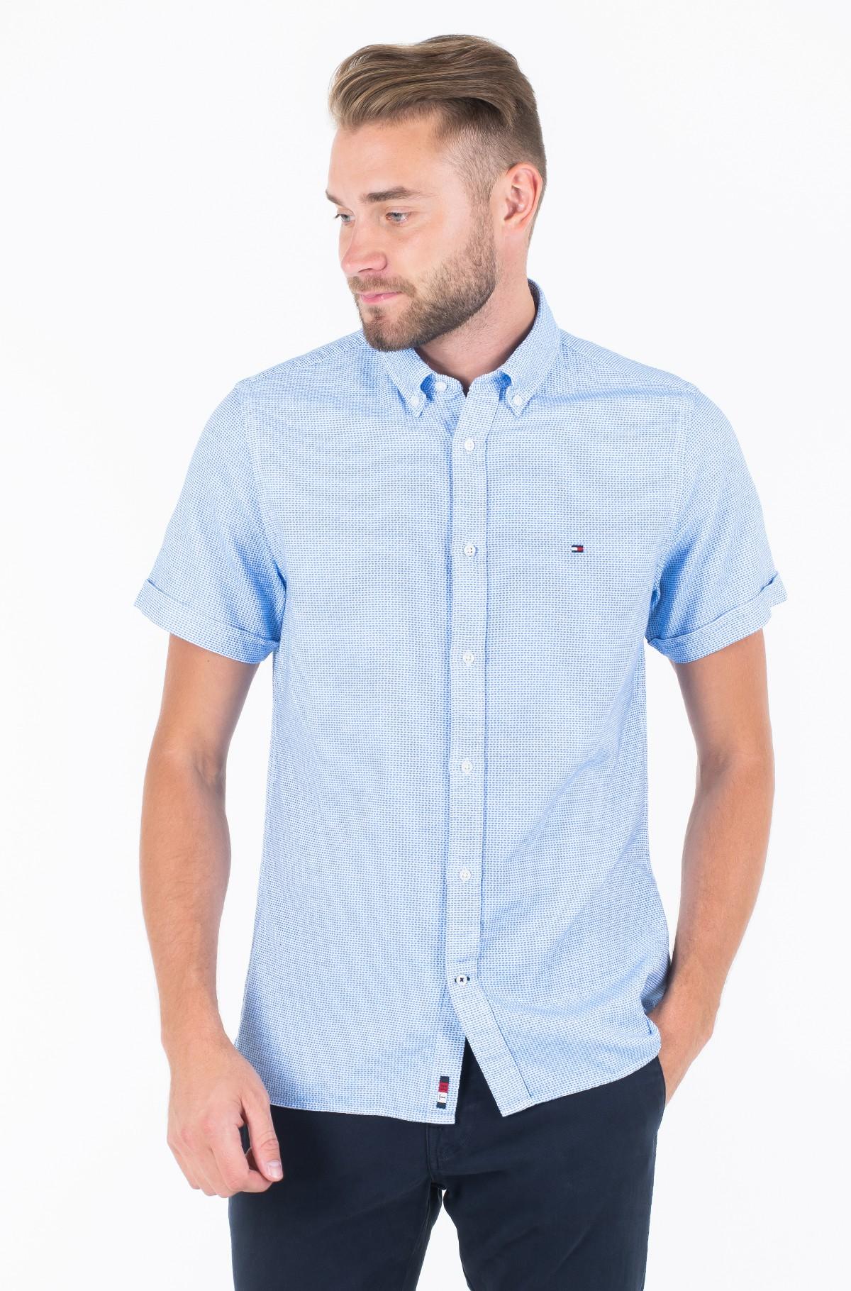 Marškiniai SLIM TEXTURED SHIRT S/S-full-1