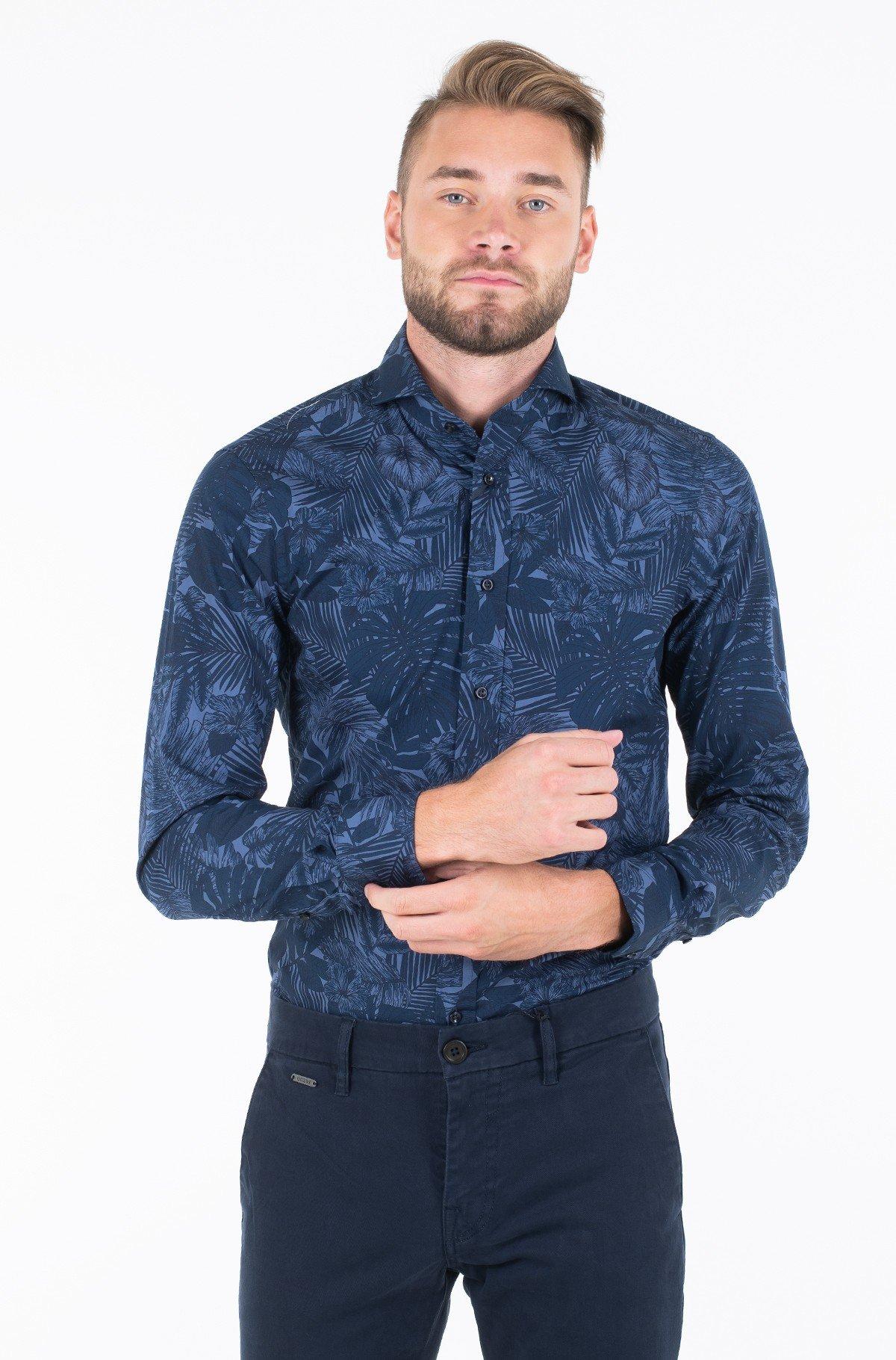 Marškiniai WASHED PRINT SLIM SHIRT-full-1
