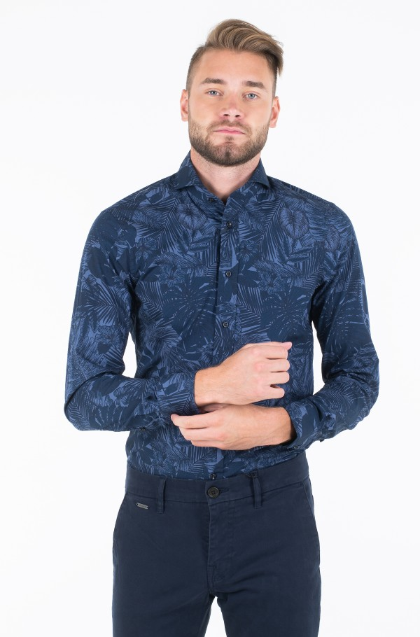 WASHED PRINT SLIM SHIRT