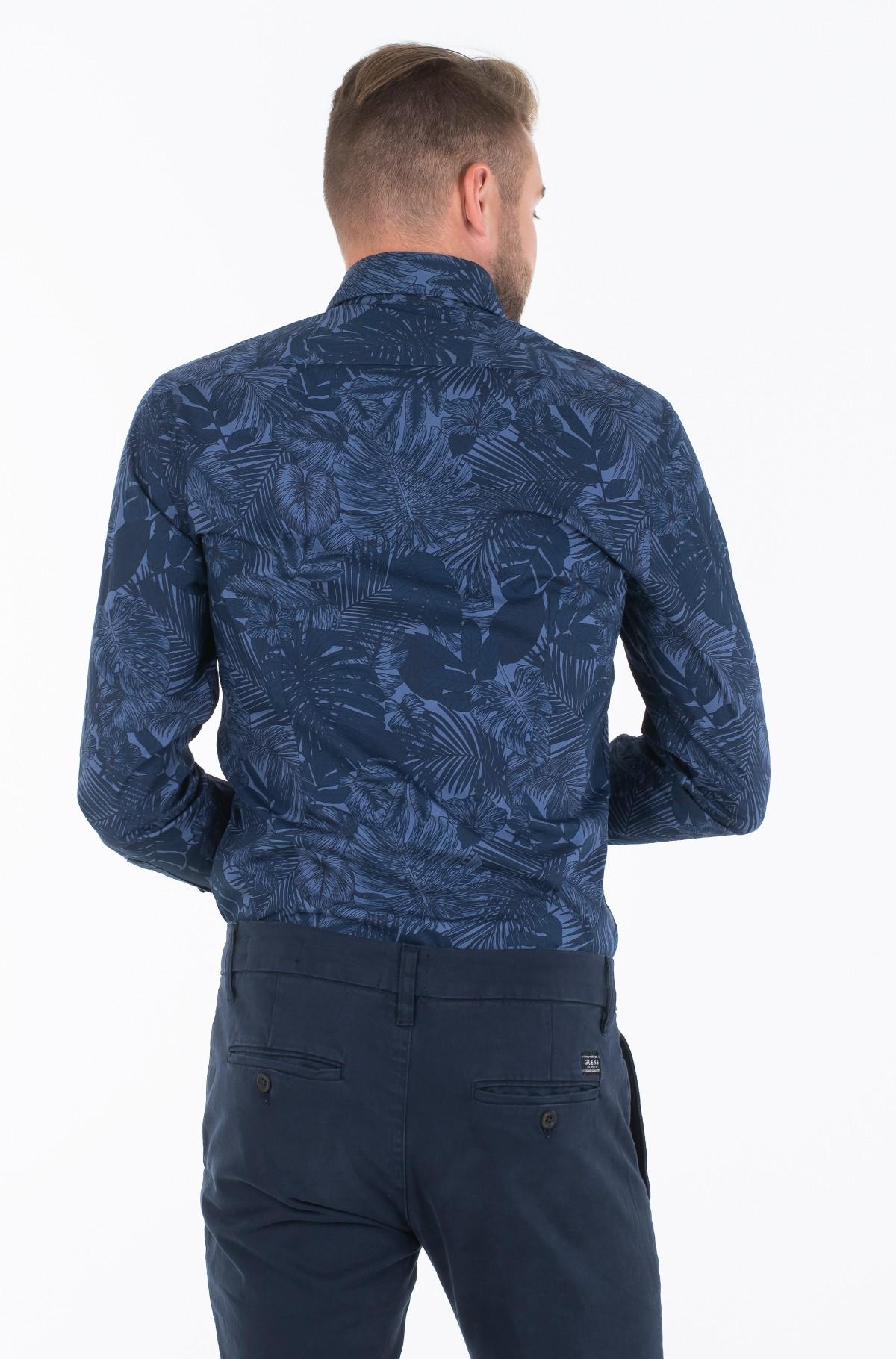 Marškiniai WASHED PRINT SLIM SHIRT-full-2
