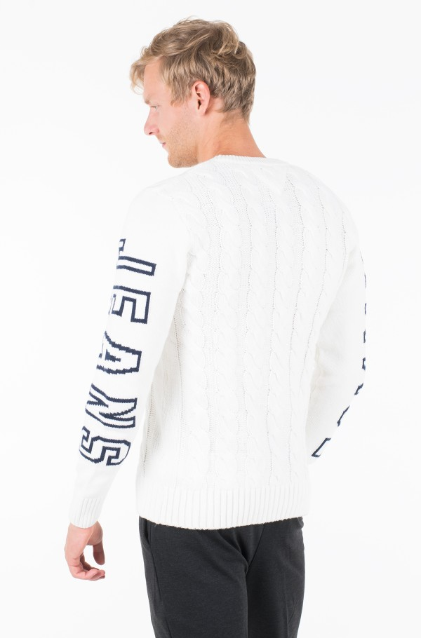 TJM CABLE LOGO SWEATER-hover