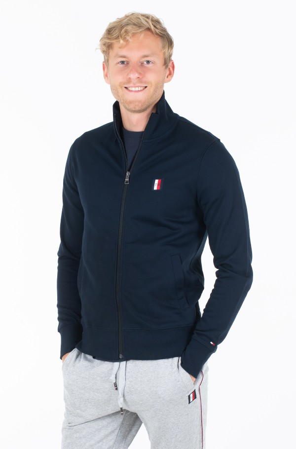 TOMMY LOGO ZIP THROUGH