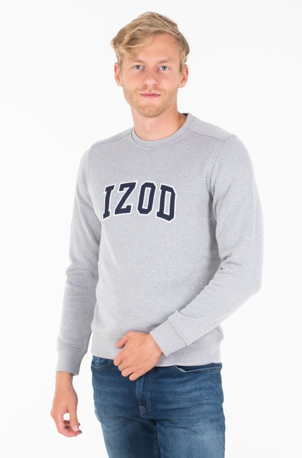 IZOD APPLIQUE FLEECE CREW