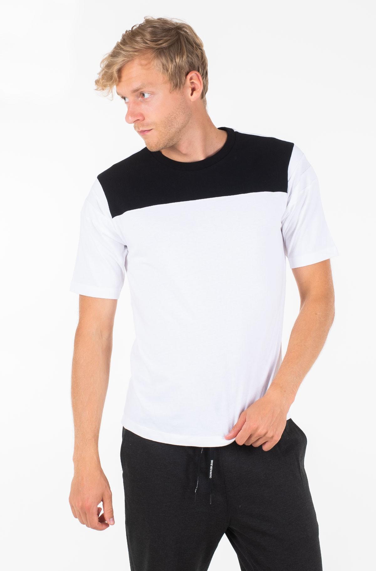 T-shirt RIB INSERT REG TEE-full-1