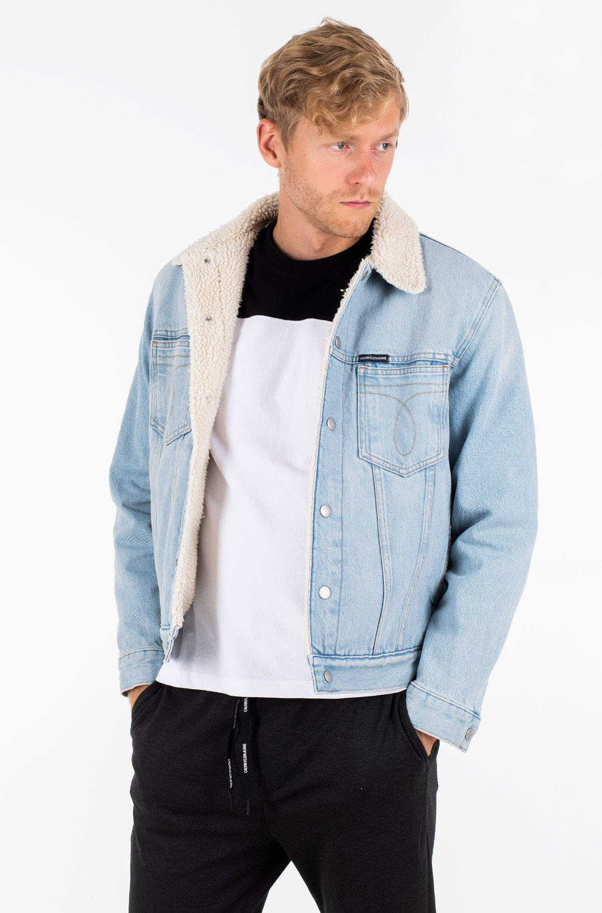 Denim jacket OMEGA SLIM SHERPA DENIM JACKET-full-1